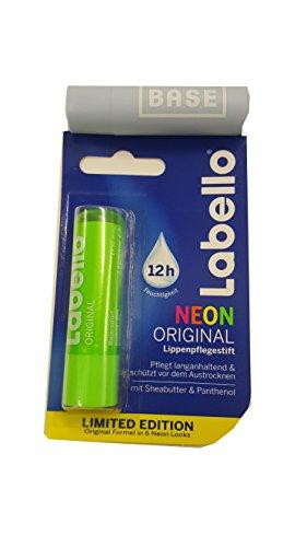 Labello (Beiersdorf) Neon GRÜN Lippenpflegestift 4,8 g.Limited Edition + Werbelippi