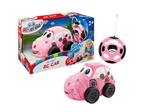 Revellino 23204 TOP 10 Spielzeug, Mein erstes RC 27MHz Fernbedienung, für Kinder ab 2 2019 ferngesteuertes Auto aus Plüsch, zum Spielen und Kuscheln, Pink