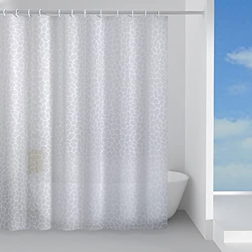 GEDY G-Jungle 180 x 200 cm, aus weißem Peva-Stoff, Design RundS, Duschvorhang mit 12 Ringen, 2 Jahre Garantie, einzigartig