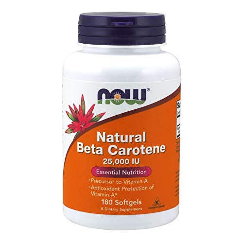 Now Foods Beta Carotene Natural, 25 000 Iu - 180 Cápsulas