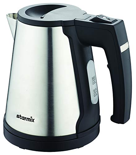 Hervidor de agua Starmix WK 0.5, 500 ml, acero inoxidable cepillado, inalambrico y facil de limpiar