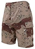 Rothco Tactical BDU (Battle Dress Uniform) Military Cargo Shorts,(Large, 6-Color Desert Camo)