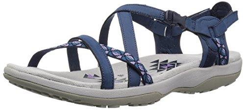 Skechers Cali Women's Regga Slim Keep Close Gladiator Sandal,navy,8 M US, navy, 8 M US