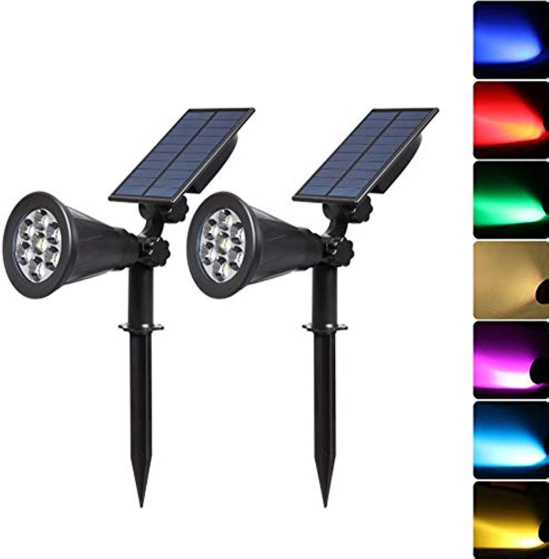 XFF Solar Scheinwerfer 7 LED Super hell Bunt Wasserdicht Sicherheit Garten Landschaft Beleuchtung (2Pack)