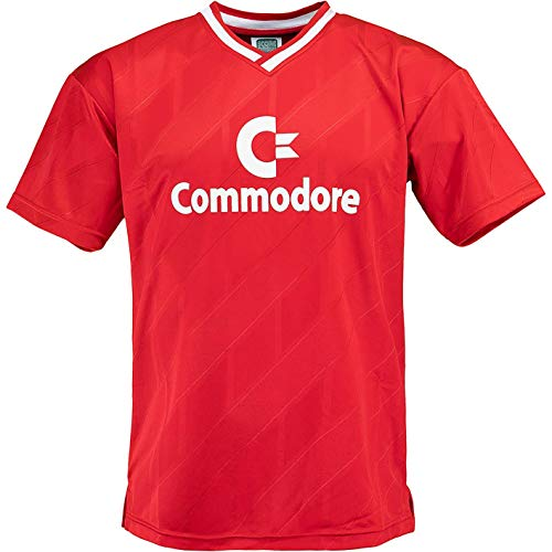 Score Draw FCB Commodore 1986 Retro Trikot (L, red)