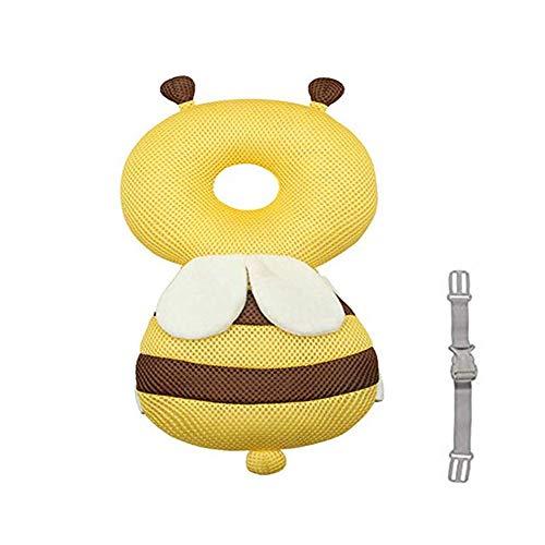 Zymy Cuscinetti protettivi per la testa del bambino, regolabili per la sua sicurezza, per camminare, a forma di graziosa ape, volpe oppure orsetto