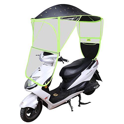 XIONGG Fahrrad Elektrisches Faltendes Wasserdicht Regenschirm, Motorrad-Regenschirm, Sonnenschutz Regen-Abdeckung, Schwarz