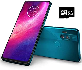 "Motorola Moto One Hyper (128GB, 4GB) 6.5"", 32MP Pop-up Camera, 45W Hyper Charging, Dual SIM Unlocked (AT&T/T-Mobile/MetroPCS/GSM) XT2027-1 (Blue Iceberg, 64GB + Case Bundle)"