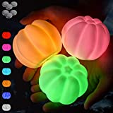 Bath Toys 10 Packs, Light Up Mini Pumpkin Baby Shower Flashing Color Changing Light, Floating Light Battery LED Night Light for Kids Baby Toddler for Bathtub Bedroom Swimming Pool Yard Party Decor