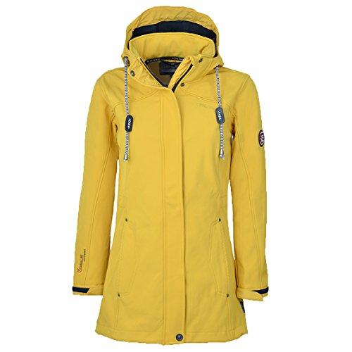 Blue Wave Damen Softshellmantel Birgit, Größe:38, Farbe:Gelb