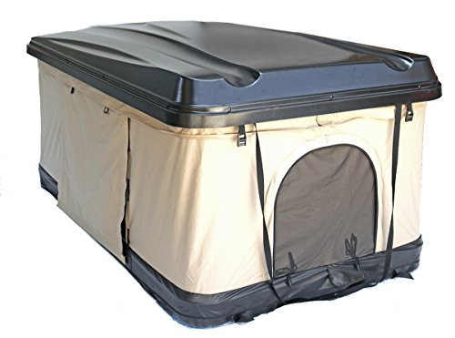 TMB Beige Pop Up Roof Overland Tent Universal for Cars Trucks SUVs Camping Travel Mobile - coolthings.us