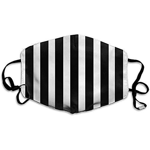 Yyndw mondmasker zwart wit gestreept dagelijks winter mondmasker drukschool stofmasker warmte wasbare afdekking masker monddekking bont skiën winkelen