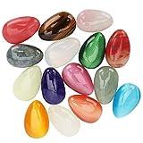 PenghaiYunfei Set di Cristalli curativi con Pietra Chakra,Adatto per l'equilibrio di 7 Chakra, cristalloterapia, Meditazione, Reiki o Usato Come Pietra per Il Pollice, Decorazione e Regalo