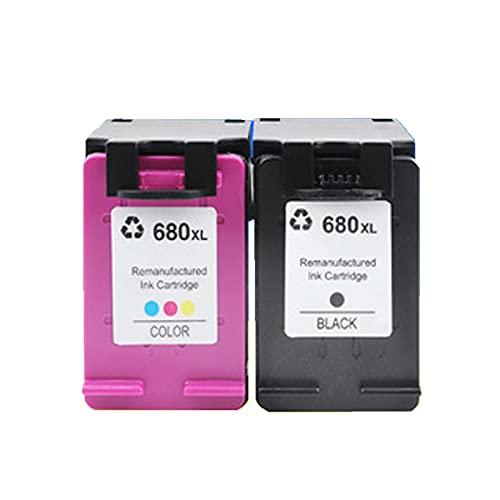 UKKU Compatible con los Cartuchos de tóner HP 680XL utilizados en HP DeskJet 1110 1115 2130 2135 3630 Envy 4520 OfficeJet 3830 4650 Impresoras con Chip Negro Color Set