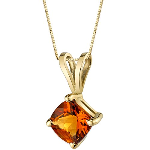 Cushion Cut Citrine Pendant by Peora