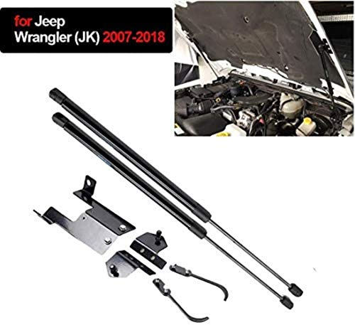 FXNB 2 Stück Vordere Motorabdeckung Motorhaube Lift Streben Bar Unterstützung Arm Gas Hydraulische Motorhaube Stoßdämpfer Für Jeep Wrangler (Jk) 2007–2018