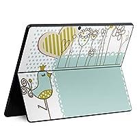 igsticker Surface Pro X 専用スキンシール サーフェス プロ エックス ノートブック ノートパソコン カバー ケース フィルム ステッカー アクセサリー 保護 005128 ラブリー 鳥 ハート イラスト