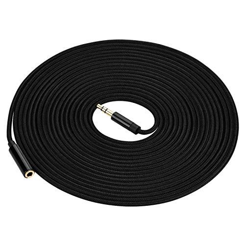 FOLOSAFENAR Extensión de Cable de Audio Cable de Audio Estuche de aleación de Aluminio, para Juegos, para Conexiones de Dispositivos de Audio(5 Meters)