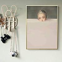 ZNLEY.O ノルディック抽象図フィギュアキャンバス絵画クリエイティブカラフルなウォールアートポスターとプリントイメージイメージイメージのためのリビングルームの家の装飾 (Farbe : A, Größe (Inch) : 40x60cm No Frame)