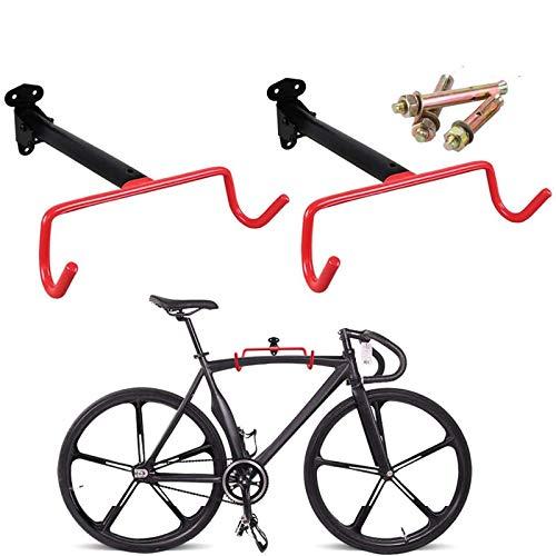 ZWH Soporte De Pared para Colgar Bicicletas Horizontal Carretera De Montaña O Bicicletas Híbridas, Ajustable Sostenedor del Gancho De Bicicletas Herramienta De Almacenamiento Cubierta Portátil