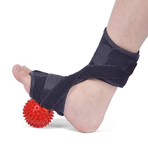 Baywell Fußstütze mit Massagerkugel, Knöchelstütze, atmungsaktiver verstellbarer Fußwickel