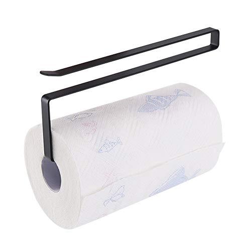 Usmascot - Rollenhalter, Papier Handtuchhalter, Unterschrank Papierrollenhalter (KEIN Bohren) Für Küche, Bad - Hängen Papierhandtuchhalter Kleiderbügel Über Der Tür (Schwarz)