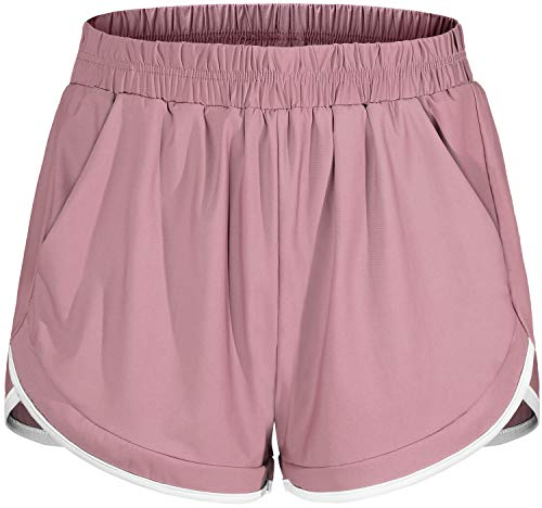 Blevonh Plus Size Shorts for Women,Quick Dry Running Athletic Short with Liner Woman Plus Sized Comfort Sports Training Short Leggings Youth Adorable Sturdy Stretch Loungewear Pink 2XL