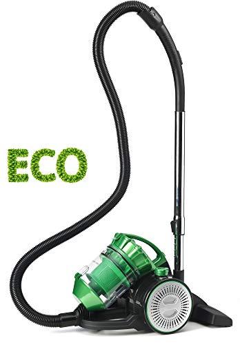 Singer VC3800 Eco Double Aspirateur Traîneau sans Sac, 2 en 1 avec Souffleur, Multicyclonique, Silencieux, Puissant