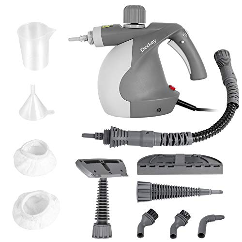Buy Bargain Deckey Handheld Steam Cleaner,Chemical-Free Cleaning with 9-Piece Accessory Set, Safety ...
