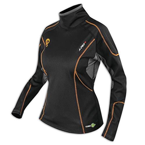 A-Pro Thermo-onderhemd voor motorfiets, functioneel ondergoed voor skiën, winter, windstopper voor dames S Vrouwen.