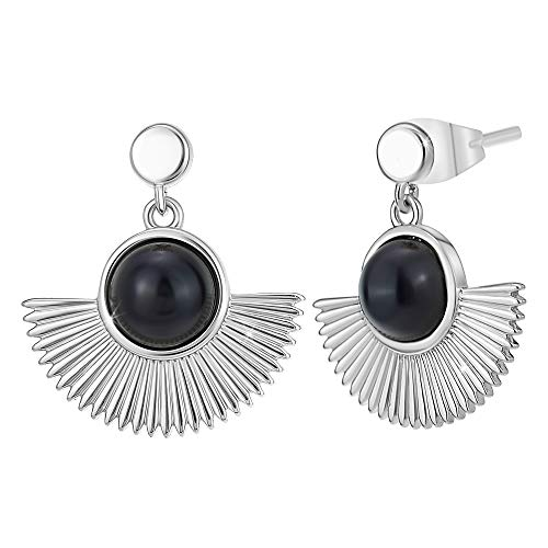 Angele M. Women's Earrings Silver Tone Rhodium-Plated Metal Christmas Gift Idea for Women