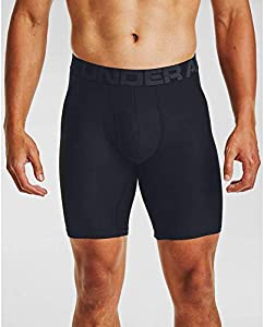 Under Armour Tech 9in 2 Pack, bóxers Ajustados Hombre, Negro (Black / Black), XL
