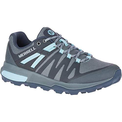 Merrell Womens Zion FST Operating Shoe, Storm/Canal - 7.5 M thumbnail