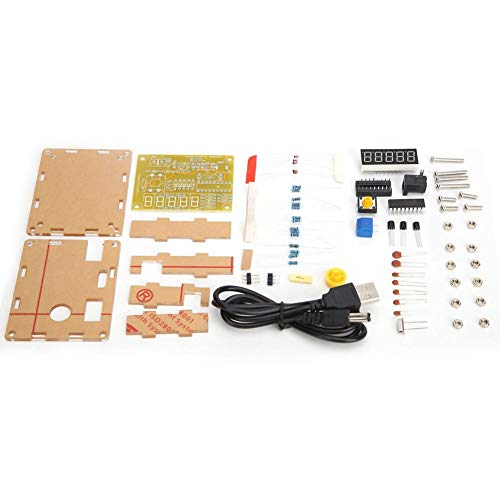 1Hz-50mHz Frequenzzähler Modul Crystal Oscillator Tester Modul Frequenzmessung Diy Kit Yellow Case + Teile