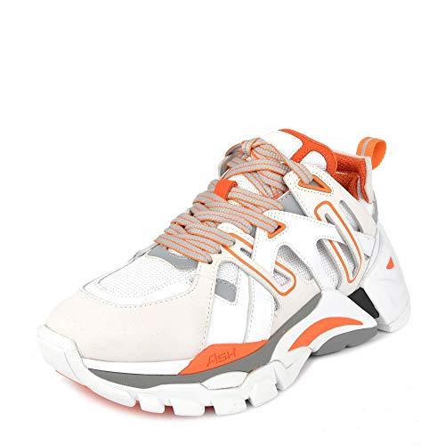 Ash Flash Sneaker, Leder, Grau / Orange, Weiß - weiß - Größe: 39 EU