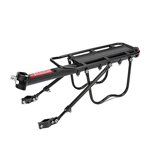 N\C Bike Rear Rack, Aluminum Alloy Adjustable Mountain Bicycle Back Rack for Bags, Luggage, Cargo Carrier