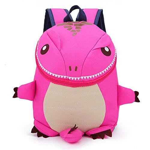LUSTAR Mochilas para Niños Mochilas para Niños Bolsa De Escuela para Niños Viajes Dinosaurio Daypack Pink