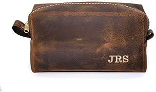Exotic Boar Leather Dopp Kit, Toiletry Bag, Shaving Bag, Mens, Handmade in Arizona, USA