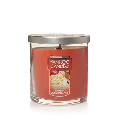 Yankee Candle Sugared Cinnamon Apple Small Tumbler Candle, Fruit Scent