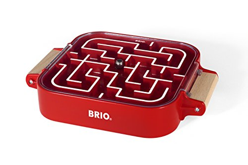BRIO - 34100 Labyrinth Take Along | A Fun Travel Version of the Classic Labyrinth Game for Kids Ages 3 and Up,Red