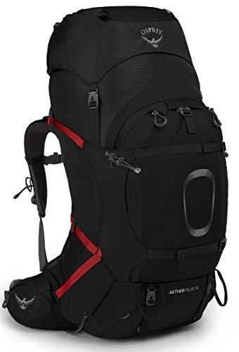 Osprey Herren Aether Plus 70 Rucksack für Rucksackreisen, schwarz, X-Large