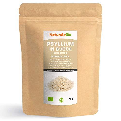 Flohsamenschalen Bio [ 99% Reinheit ] 1 kg. Organic Psyllium Husk. 100% Indishe, naturbelassen und...