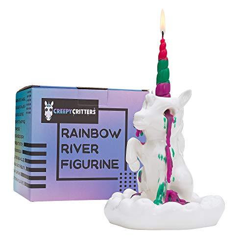 Creepy Critters Rainbow River Sad Crying Unicorn Tears Candle Holder Figurine