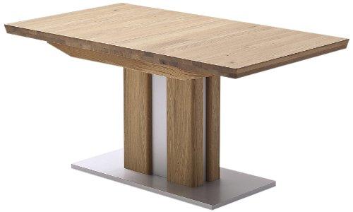 Robas Lund Tisch, Esszimmertisch, Bergamo, ausziehbar,Eiche/Massivholz, 160(210)x77x90 cm, BERG16EI
