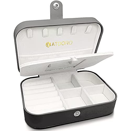 PINSHangFENg Caja de Almacenamiento Bolsa Portátil Adecuada para Collar Pendientes Pulseras Accesorios de Anillo Caja de Regalo de Cuero Artificial Avanzada-