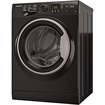 Hotpoint NSWM963CBSUK 9Kg Washing Machine with 1600 rpm - Black - A+++ Rated