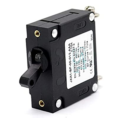 T Tocas Toggle Single Pole Hydraulic Magnetic Circuit Breakers AC or DC 80V