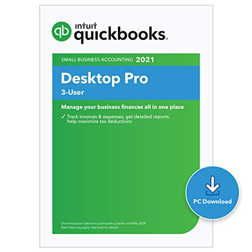 QuickBooks Desktop Pro 2021 Accounting Software for Small Business - 3 user [PC Download code]