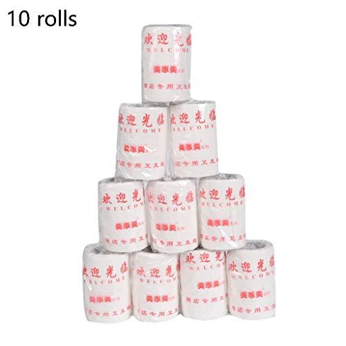 RROVE 10-teilig-30g Papiertücher, weiches Toilettenpapier, weiße Papiertücher, Haushalt DREI