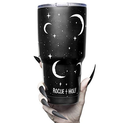 The Rogue + The Wolf Moonlight Tumbler Thermosflasche schwarz